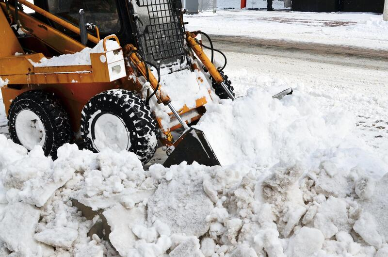 Snow removal down town Sioux Falls
